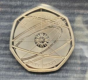 2017 Sir Isaac Newton PROOF 50p Royal Mint UK coin