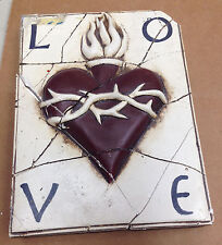 Sid Dickens Memory Tile AS IS Retired T19 Heart Sacred Love Thorns Crown Repair