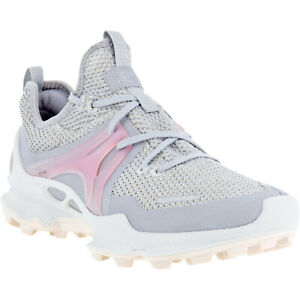 ECCO Womens Biom C-Trail Low Outdoor Walking Hiking Trainers Sneakers - Silver