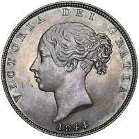 1844 HALFCROWN - VICTORIA BRITISH SILVER COIN - V NICE