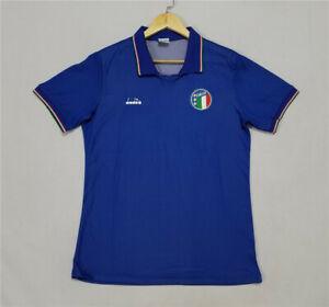 1990 Italy Home Retro Soccer Jersey