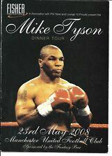 Mike Tyson United Kingdom  Dinner Tour On site Program 2008  Boxing