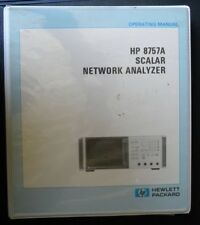 HP 8757A SCALAR NETWORK ANALYZER OPERATING MANUAL