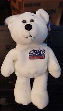 "Limited Treasures TERRELL DAVIS White QB Chase Bear 9"" bean bag-1998-New-w/tags"