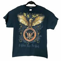 United States Navy Military USA Global Force for Good Tshirt Mens Size Large L