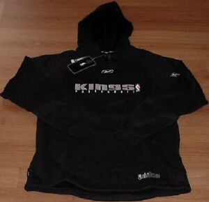 Sacramento Kings Hooded Sweatshirt Hoodie Medium Embroidered Logos Black NBA