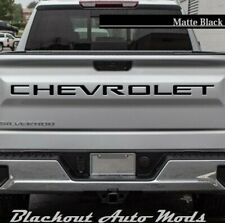 Matte Black Raised Tailgate Letters for 2020 Chevrolet Silverado 2500 3500