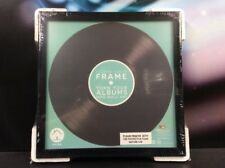 """VINYL 7"""" RECORD BLACK SINGLE PICTURE FRAME DISPLAY WALL ART - NEW"""