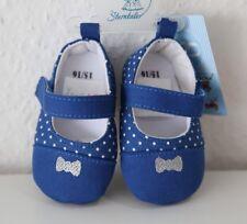 Sterntaler Babyschuhe Krabbelschuhe Erste Schuhe Gr.15/16 blau gepunktet NEU