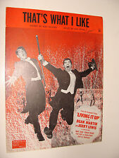Jerry Lewis Dean Martin That's What I Like from  Living It Up 1954 Jule Styne
