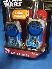 22756 New Disney STAR WARS Kids Walkie Talkies Radio NIB ~ Long Range