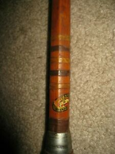 """Vintage Montague Dreadnought 87"""" Bamboo Fishing Rod RARE ONE PIECE"""