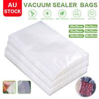 100 X Vacuum Sealer Bags Precut Food Storage Saver Heat Seal Cryovac 6 Size New
