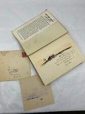 Ross Santee LOST PONY TRACKS 1953 Signed Inscribed & 1931 Sketch Letter w/ Stamp