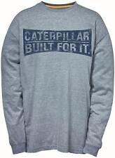 Caterpillar CAT 1510264 Mens Work T-shirt Curved Banner Long Sleeve 100 Cotton Grey 3xl