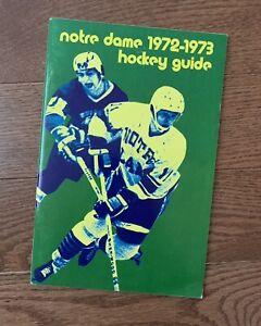 Vintage 1972-1973 Notre Dame Hockey Media Guide / Program