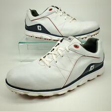 FootJoy FJ Men's 11 W Wide Pro/SL Golf Shoes Spikeless Lightweight White 53269