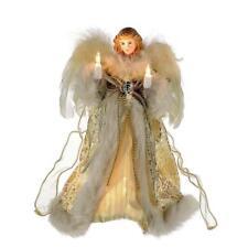 "Kurt Adler UL 10 Light Angel Treetop Figurine 10"" Ivory & GOLD Home"