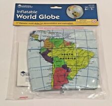 """Lot of 10 Learning Resources 11"""" Inflatable World Globe Ler2432 Classroom New"""