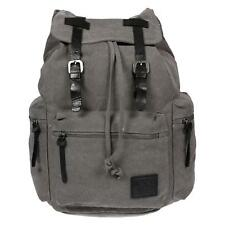 c5e64a3feaaa8 Harold s Outdoor Backpack Canvas Real Leather Grey School Travel Leisure