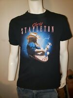 Mens Large Chris Stapleton T-shirt Black Cotton Graphic Print Country Nashville