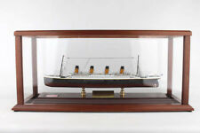 RMS Titanic Cruise Ship Ocean Liner Model With Relic And Display Cabinet Set
