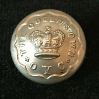 Boer War Victorian Queens Own Oxfordshire Yeomanry Button Sweetheart Brooch M1/6