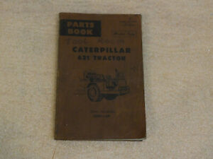 Caterpillar Parts Book 621 Tractor S/N 23H1-UP Master Copy 1966