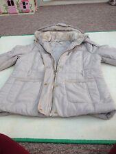 Ladies Matalan Cream hooded winter 3/4 Coat