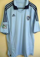 ae6eb15a766 MLS adidas Sporting Kansas City Short Sleeve Replica Soccer Jersey XL