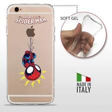 iPhone 6 Plus 6S Plus CASE COVER PROTETTIVA TRASPARENTE DC MARVEL Spider Man