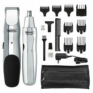 Wahl Groomsman Rechargeable Beard Stubble Mustache & Bonus Nose Trimmer 5622 NEW