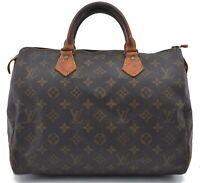 Authentic Louis Vuitton Monogram Speedy 30 Hand Bag M41526 LV B5788