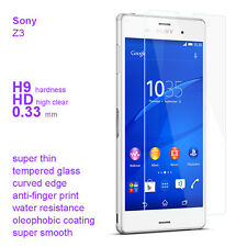 2 pack premium Quality Real Tempered Glass Screen Guard Protector for Sony Z3