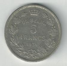 1931 UN BELGA 5 Francs - Albert I Belgium | KM# 97.1