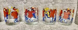Leo Meiersdorff Original New Orleans Jazz 4 Glasses Ljungberg Collection Vtg Art