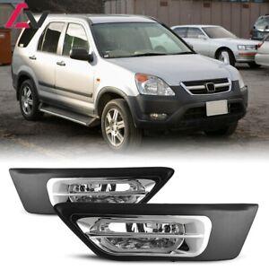 For Honda CRV 02-04 Clear Lens Pair Bumper Fog Light Lamp+Wiring+Switch