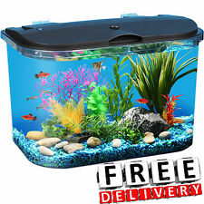 Aquarium 5 Gallon Led Lighting Power Filter Decoration Tropical Fish Water New