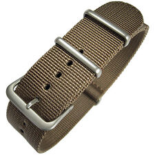 20mm Hadley-Roma MS4210 Mens Khaki Tan Nylon MoD G10 Military Watch Band Strap