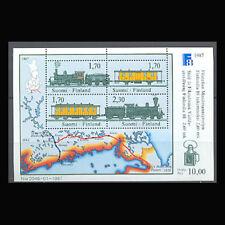 Finland, Sc #755, MNH, 1987, S/S, Train, Locomotives, Railroad, 1118