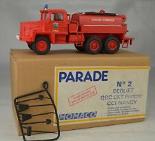 "Momaco Parade #2 Berliet GBC 8KT CCI Nancy Fire Truck France 5 7/8"" Mint W/Box"