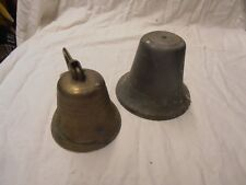 LOT DE 2 CLOCHES ANCIENNE EN BRONZE