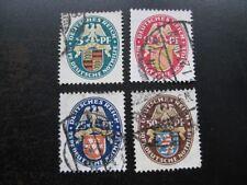 DEUTSCHES REICH Mi. #398-401 scarce used stamp set! CV $192.50