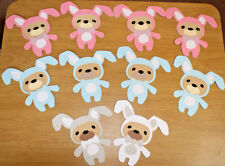 10  Easter Bunny Rabbit  Character Bears  10 Baby Bunnies any colours  No.153