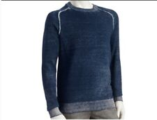 Men's XLarge HELIX Sweater Blue & White - Faded Look - 100% Cotton NWT