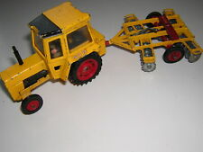 Corgi  FORD TRACTOR &Tandem Disc Harrow Yellow Red 1970s Farm Toy