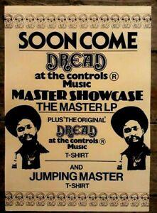 Reggae promo concert poster - Dread at the Controls Music Mikey Dread A3 reprint