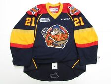ERIE OTTERS OHL AUTHENTIC NAVY ANY NAME / NUMBER CCM EDGE 2.0 7287 HOCKEY JERSEY