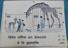 1960 Ancienne Affiche Élocution MDI N°25/26 félix offre un biscuit à la gazelle