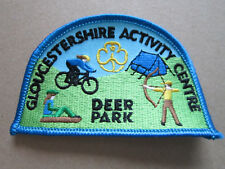 Deer Park Gloucestershire Activity Centre Girl Guides Woven Cloth Patch Badge